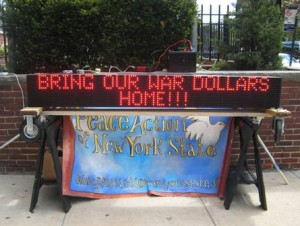 Electronic Cost of War Sign