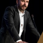 Jeremy Scahill accepting the 2014 Peace Action NY State William Sloane Coffin, Jr. Peacemaker Award.
