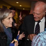 """Amy Goodman chats with guests at the PANYS affair."""